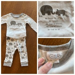 Mud Pie neutral baby outfit NWOT